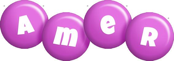 Amer candy-purple logo