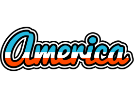 AMERICA logo effect. Colorful text effects in various flavors. Customize your own text here: https://www.textGiraffe.com/logos/america/