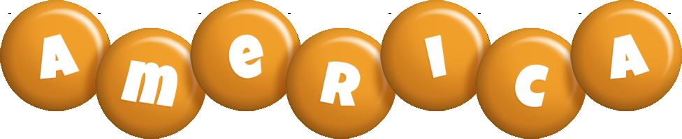 America candy-orange logo