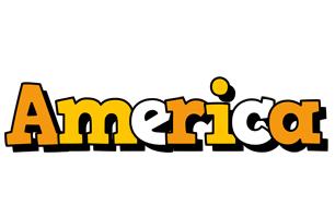 America cartoon logo
