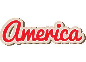 America chocolate logo