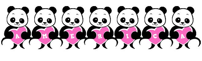 America love-panda logo