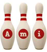 Ami bowling-pin logo