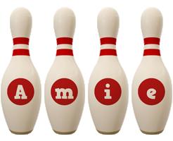 Amie bowling-pin logo