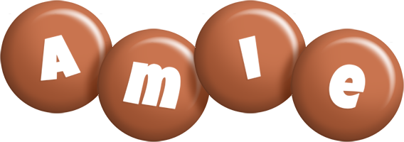 Amie candy-brown logo