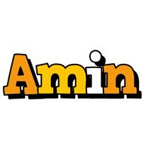 Amin cartoon logo