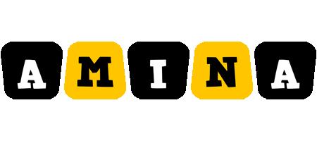 Amina boots logo