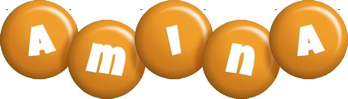 Amina candy-orange logo