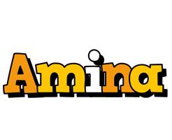 Amina cartoon logo