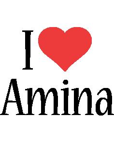 Amina i-love logo