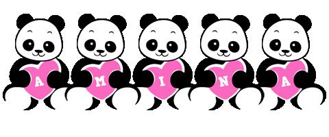 Amina love-panda logo
