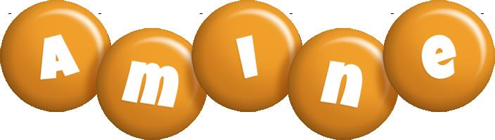 Amine candy-orange logo