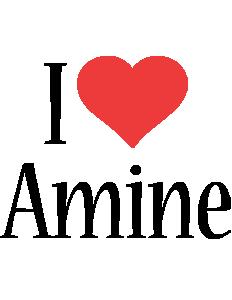 Amine i-love logo