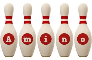 Amino bowling-pin logo