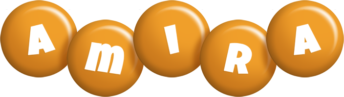 Amira candy-orange logo