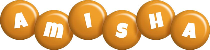 Amisha candy-orange logo