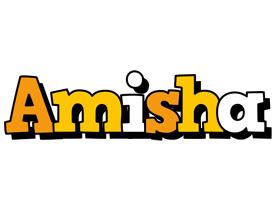 Amisha cartoon logo
