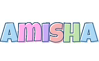 Amisha pastel logo
