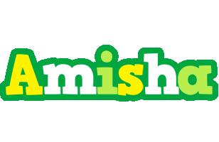 Amisha soccer logo
