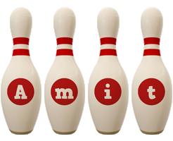 Amit bowling-pin logo