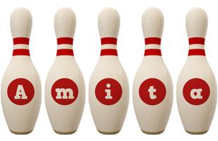 Amita bowling-pin logo