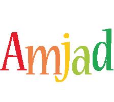 Amjad birthday logo