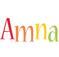 Amna birthday logo