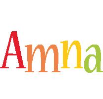 Amna birthday logo