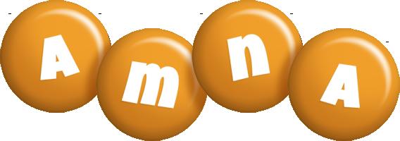 Amna candy-orange logo