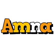 Amna cartoon logo