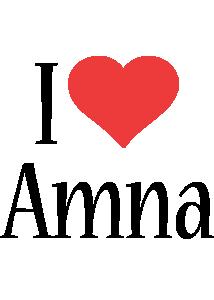 Amna i-love logo