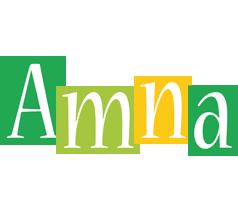 Amna lemonade logo