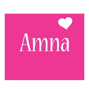 Amna love-heart logo