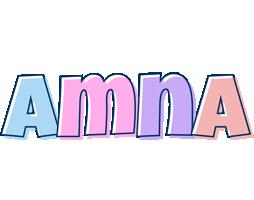 Amna pastel logo