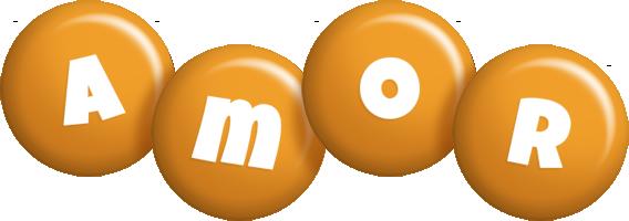 Amor candy-orange logo