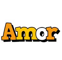 Amor cartoon logo