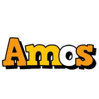 Amos cartoon logo