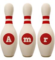 Amr bowling-pin logo