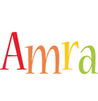 Amra birthday logo