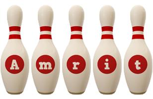 Amrit bowling-pin logo