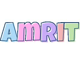 Amrit pastel logo