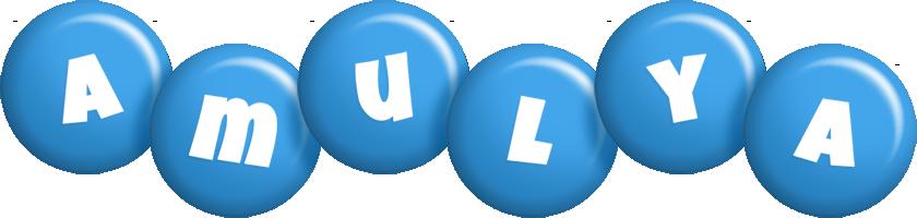 Amulya candy-blue logo