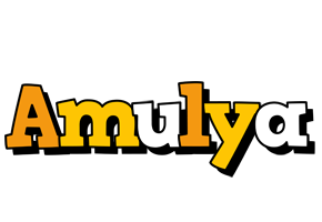 Amulya cartoon logo