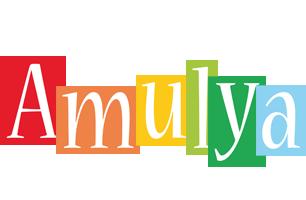 Amulya colors logo