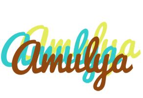 Amulya cupcake logo
