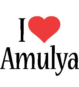Amulya i-love logo