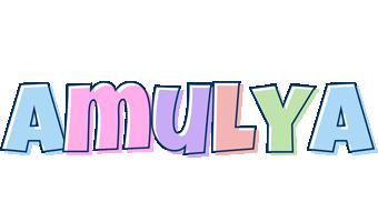 Amulya pastel logo