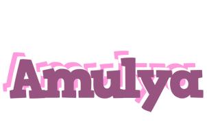 Amulya relaxing logo