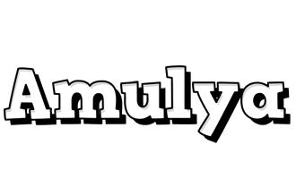 Amulya snowing logo
