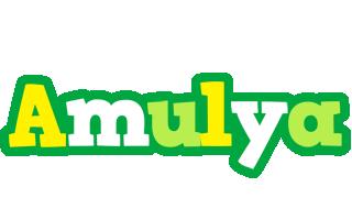 Amulya soccer logo